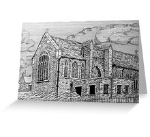 221 - ST. MARY'S CHURCH, JOHNSTOWN, NORTH WALES - DAVE EDWARDS - INK - 2009 Greeting Card