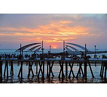 Sunset Horseshoe Pier  Photographic Print