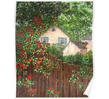 Cascading Roses Poster