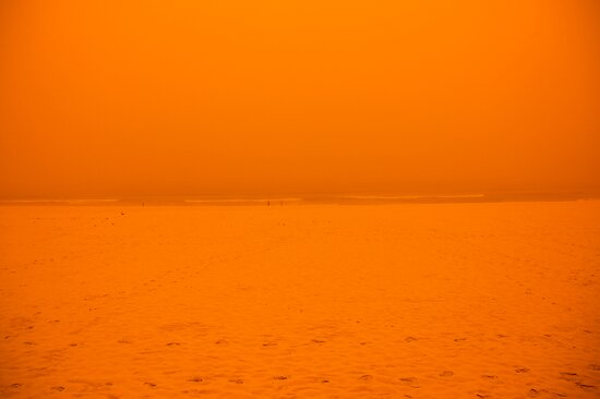 Sydney Dust Storm: Orange Split by Milton Gan