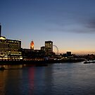 Thames, London at sunset by sarahtoure