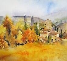 Autumn Colours Tuscany by artbyrachel