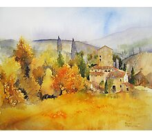 Autumn Colours Tuscany Photographic Print