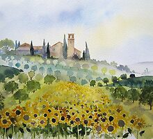 Sunflowers and Olive Groves by artbyrachel