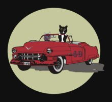 Cats Joy Riding in Vintage Car T-Shirt