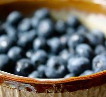bokeh blueberries by Alyssa Medina