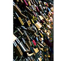 Hohenzollern Love Locks Photographic Print