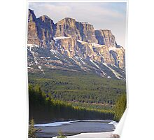 Castle Mountain & The Bow River Poster