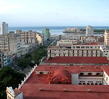 Rooftop view looking toward the seawall, Havana by ecotterell