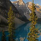 Magic on  Moraine Lake - Canada by Barbara Burkhardt