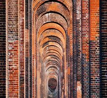 Balcombe Ouse Valley Viaduct - From Below by Mike Weeks