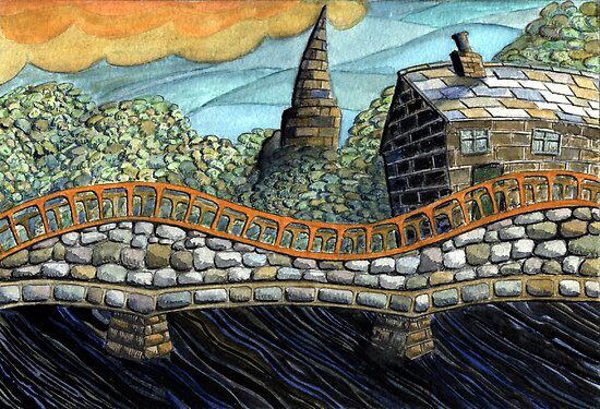 167 - MORPETH BRIDGE (WATERCOLOUR & COLOURED PENCILS) by BLYTHART