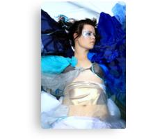 Blue, the most human colour... Canvas Print
