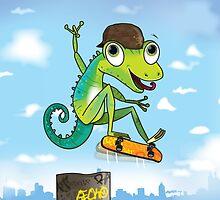 lizard by flamingrhino
