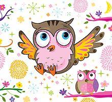 Glitterbugs Owl by flamingrhino