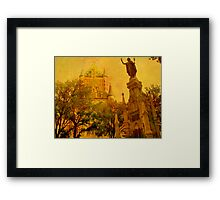 Chateau Frontenac, Quebec City   & Statue    Framed Print