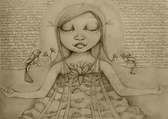 Affirmation Drawing by © Karin  Taylor