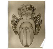 Gossamer Fairy drawing Poster