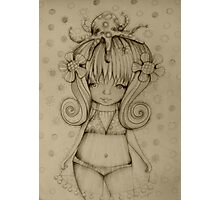 The Girl and The Octopus drawing Photographic Print