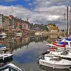 Honfleur harbour by Adri  Padmos