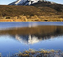 East Peak from La Veta Town Lake by Fletcher Hill