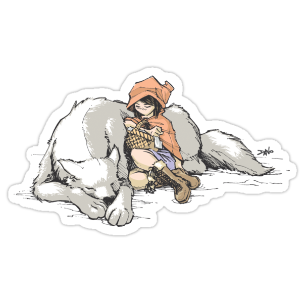 Petite Rouge en le Loup  by Nathan Davis