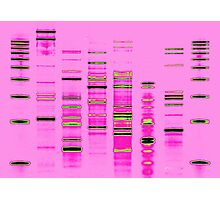 DNA Art Portrait - 80's Heat Photographic Print