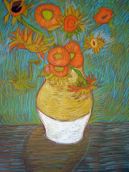 my childs artwork - van gogh (sun flowers) by frenchblue