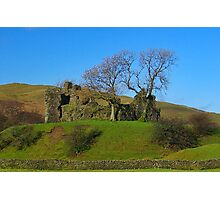 Pendragon Castle Ruins Photographic Print