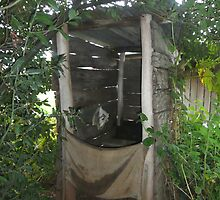 Original loo at historical homestead Mont De Lancey, Wandin circa 1860 by lols