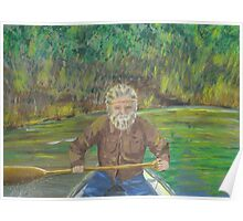 Oil Painting of Griz on River...Voyager Style Poster