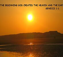 Genesis 1:1 In the beginning God created the heaven and the earth. by Deirdre Banda