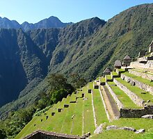 Inca Terraces of Machu Picchu. Peru by vadim19
