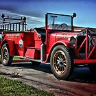 Antique Fire Truck by Vickie Emms