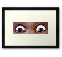Ol' Blue Eyes Is Back! Luna Park - Sydney Framed Print