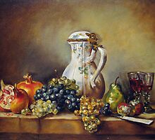My Chardin-Still life with white pitcher by Francesca Romana Brogani
