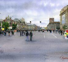 City day in Novosibirsk by Sergei Kurbatov
