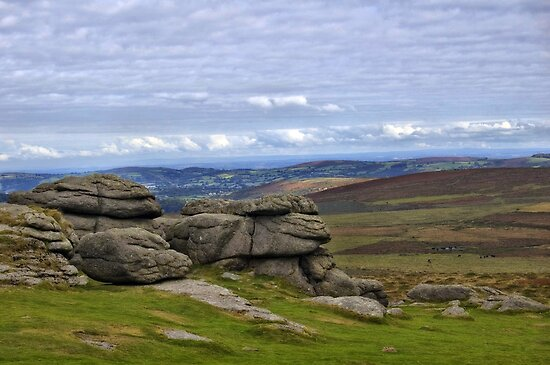 View from Haytor, Dartmoor, Devon by Squealia