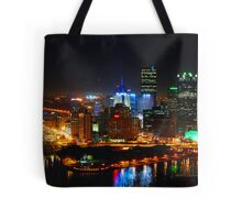 Pittsburgh Pennsylvania by night Tote Bag
