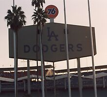 Dodger Stadium - Dusk by DamienGarth