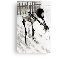 Working to the Bone Canvas Print