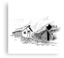 Chinese Gold Prospector's Hut Canvas Print