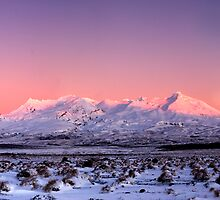 Mount Ruapehu panoramic 1 by Paul Mercer