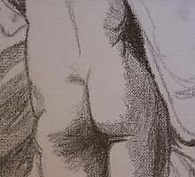 Female Nude from Behind (detail) by Sarah Bentvelzen