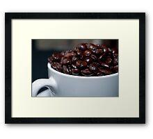 Full of Beans Framed Print