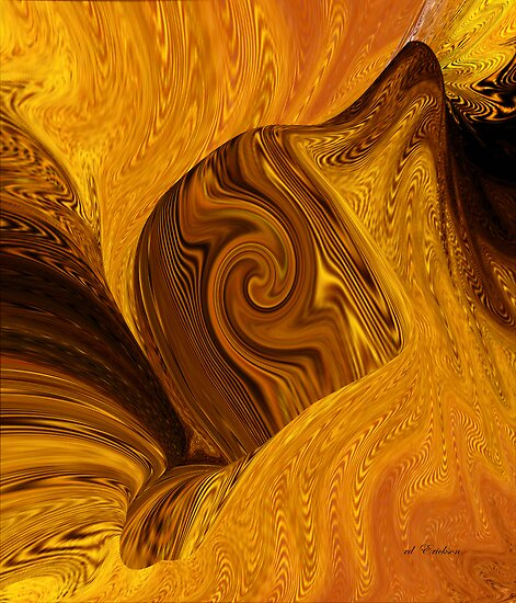Deep within the Earth, the Molten Fire by rd Erickson