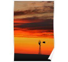Autumn Windmill Poster
