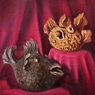 Puffer Fish Teapots (sold) by Randy  Burns