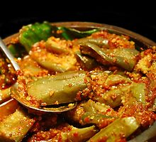 Egg Plant in Red Hot Chili Peppers by Charuhas  Images