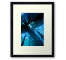 Jetty in Blue Framed Print